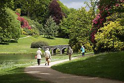 © Licensed to London News Pictures. 20/05/2015. Stourhead, UK. People out enjoying the warm, sunny weather at the National Trust Property, Stourhead, in Wiltshire today, 20th May 2015. Photo credit : Rob Arnold/LNP