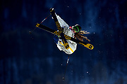 Sweden's Henrik Tarlaut competes in the Ski Slopestyle Qualification in the XXII Olympic Winter Games at Extreme Park in Sochi, Russia.