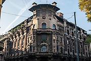 Milano, Lombardia, Italia. Stile liberty. Liberty style. Casa Berri-Meregalli via Capuccini 10, arch. G. Arata.