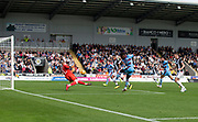 4th August 2018, Simple Digital Arena, Paisley, Scotland; Ladbrokes Premiership football, St Mirren versus Dundee; Craig Samson of St Mirren brilliantly saves Dundee's Jean Alassane Mendy's shot