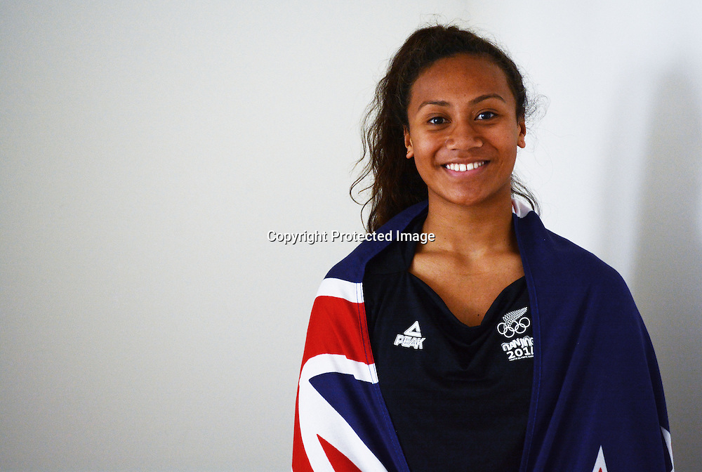 Gabrielle Fa'amausili - Swimming Junior World Champion in the 50m backstroke and world record holder is the New Zealand flag bearer for the 2014 Youth Olympics in Nanjing, China.