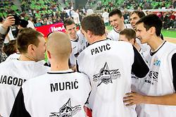 Beli - domaci na Dnevu slovenske moske kosarke 2010, on January 2, 2011 in Arena Stozice, Ljubljana, Slovenia. (Photo by Vid Ponikvar / Sportida.com)