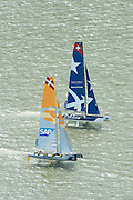 SAP and Realstone. Day four of the Extreme Sailing Series regatta being sailed in Singapore. 23/2/2014