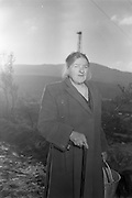 02/02/1963<br /> 02/02/1963<br /> 02 February 1963<br /> Ambassador Oil drilling site, Glengevlin, Dowra, Co. Cavan. All the hopelessness of the hard land seems mirrored in 65 year old Mrs Susan McGovern's face. Extra emphasis in her expression may stem from parting with the oil site land as a gift to a nephew three years ago. (original caption)