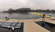 Caversham, Great Britain,  General Views, GV's.  November sculling Test and Pairs race.  Caversham Lake, GB Rowing,  Training Centre.  {DOW  {DATE} [Mandatory Credit. Peter Spurrier/Intersport Images] Sunrise, Ground Mist and Rain.