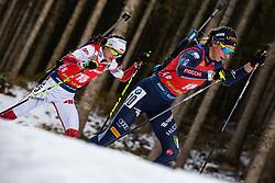 Lisa Vittozzi (ITA), Monika Hojnisz-Starega (POL) during the Mass Start Women 12,5 km at day 4 of IBU Biathlon World Cup 2019/20 Pokljuka, on January 23, 2020 in Rudno polje, Pokljuka, Pokljuka, Slovenia. Photo by Peter Podobnik / Sportida