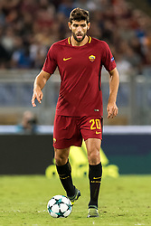 Federico Fazio of AS Roma during the UEFA Champions League group C match match between AS Roma and Atletico Madrid on September 12, 2017 at the Stadio Olimpico in Rome, Italy.