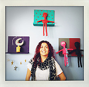 Artist Arabella Medrano at her studio in Reynosa, Mexico...My journey along the border from Brownsville and Matamoros to Juarez and El Paso..www.stefanfalke.com..