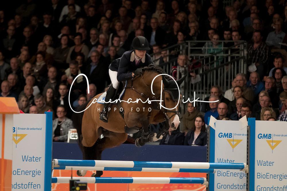 Muller Caroline, GER, Hanley<br /> Springen Klasse L<br /> KWPN Hengstenkeuring 2017<br /> © Dirk Caremans<br /> 02/02/17