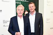 Premiere van Gurre-Lieder in de Nationale Opera & Ballet / Premiere of Gurre-Lieder in the National Opera & Ballet.<br /> <br /> Op de foto / On the photo:   Andre van Duin en partner Martin Elferink