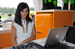 LEIGH LEZARK from The Misshapes at the 2011 Veuve Clicquot Gold Cup Final at Cowdray Park, Midhurst, West Sussex on 17th July 2011.