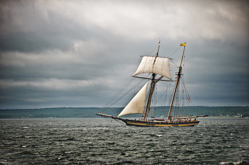 The Pride of Baltimore II in Pictou Harbour, Nova Scotia, Canada.