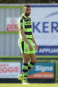 Forest Green Rovers defender Curtis Tilt (2) home debut 0-0 during the Vanarama National League match between Forest Green Rovers and North Ferriby United at the New Lawn, Forest Green, United Kingdom on 1 April 2017. Photo by Alan Franklin.