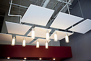 The lighting and ceiling in the lobby of the newly-opened Atlanta Ballet Michael C. Carlos Dance Centre in Atlanta, Georgia September 13, 2010.