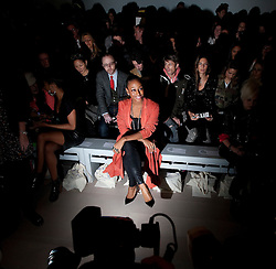 © Licensed to London News Pictures. 17/02/2012. London, UK. Singer Alexandra Burke on the front row at Felder Felder show by designer Annette Felder and Daniela Felder,  Autumn/Winter 2012 collection for London Fashion Week 2012 at Somerset House on February 17th, 2012. Photo credit : Ben Cawthra/LNP