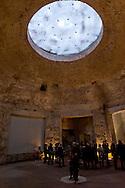 """Roma 1 Aprile 2015<br /> Presentato il progetto per il risanamento della Domus Aurea, realizzato dalla Soprintendenza speciale per i beni archeologici di Roma, che consiste nella sistemazione del  giardino pensile,una parcella di 800 mq ,realizzato con tecnologie sostenibili che farà da «scudo» alla  Domus Aurea impedendo le infiltrazioni d'acqua. L'interno della Domus Aurea.La sala ottagonale.<br /> Rome, April 1, 2015<br /> Presented the project for the rehabilitation of the Domus Aurea, fulfilled  by the Superintendence for Cultural Heritage of Rome, which is the arrangement of the roof garden, a plot of 800 square meters, made with sustainable technologies that will be the """"shield"""" at the Domus Aurea for  preventing water infiltration. The interior of the Domus Aurea. Octagonal Room"""