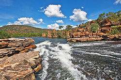 View of the Roe River on the Kimberley coast.