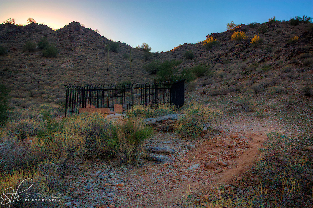 Grave site along Gold Mine Trail - San Tan Regional Park, Queen Creek, AZ