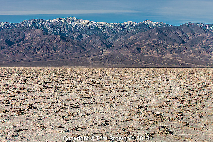 Panamint Range and the Salt flats of the Armagosa River