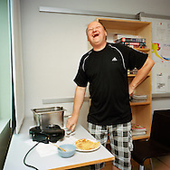 Halden Prison, Norway, June 2014:<br /> Friday is waffle day in the A-block where the higher security prisoners are kept. <br /> -- No commercial use --<br /> Photo: Knut Egil Wang/Moment/INSTITUTE