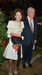 LORD & LADY BLACK attending Annabel Goldsmith's Summer party held at her home in Ham, Surrey on 10th July 2014.