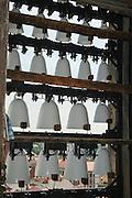 Meißen, Altstadt, Liebfrauenkirche, Glockenspiel aus Meißner Porzellan, Sachsen, Deutschland. .old town of Meissen, church of Our Lady, carillon of Meißen china, Saxony, Germany.