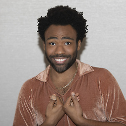May 12, 2018 - Hollywood, California, U.S. - American Actor Musician DONALD GLOVER aka Childish Bambino promotes the movie 'Solo: A Star Wars Story' and also the TV series 'Atlanta' (Credit Image: © Armando Gallo/ZUMA Studio)