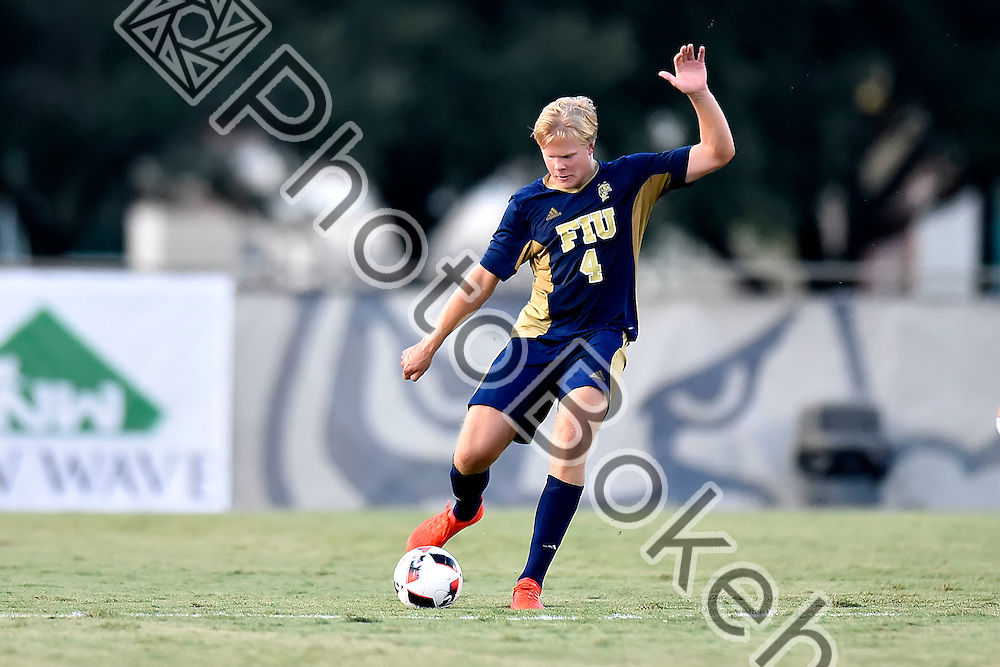 2016 September 02 - FIU's Aron Heiddal (4). <br /> Florida International University defeated Wisconsin, 1-0, Miami, Florida. (Photo by: Alex J. Hernandez / photobokeh.com) This image is copyright by PhotoBokeh.com and may not be reproduced or retransmitted without express written consent of PhotoBokeh.com. &copy;2016 PhotoBokeh.com - All Rights Reserved