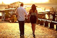 couple by the Seine River, Paris - photograph by Owen Franken