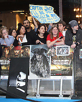 Johnny Depp Fans Pirates Of The Caribbean: On Stranger Tides - UK Premiere, Westfield Shopping Centre, London, UK, 12 May 2011:  Contact: Rich@Piqtured.com +44(0)7941 079620 (Picture by Richard Goldschmidt)