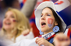 Fans of Slovakia during Ice Hockey match between Slovakia and Norway at Day 6 in Group B of 2015 IIHF World Championship, on May 6, 2015 in CEZ Arena, Ostrava, Czech Republic. Photo by Vid Ponikvar / Sportida