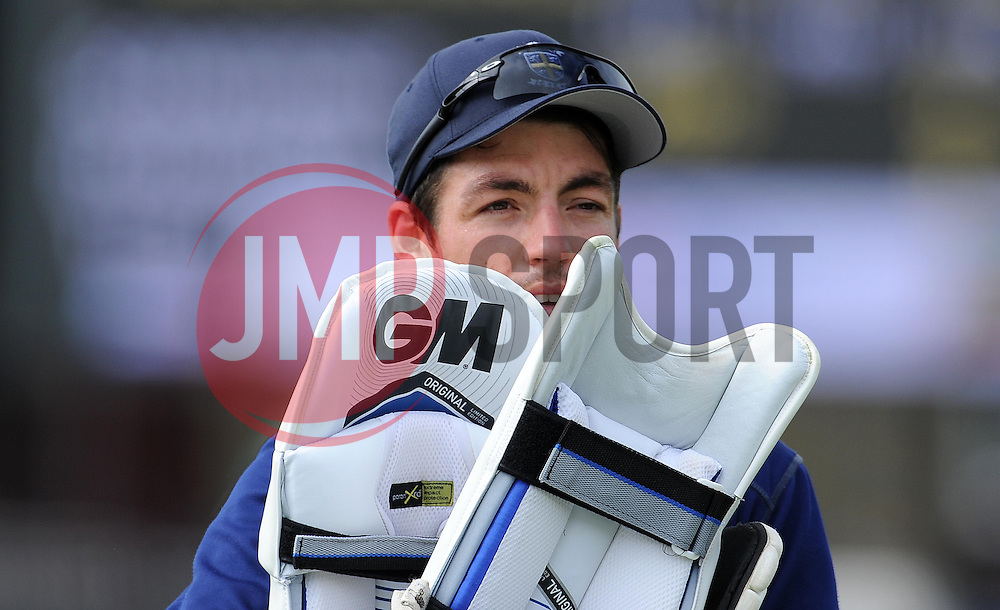 Durham's Michael Richardson - Photo mandatory by-line: Harry Trump/JMP - Mobile: 07966 386802 - 13/04/15 - SPORT - CRICKET - LVCC County Championship - Day 2 - Somerset v Durham - The County Ground, Taunton, England.