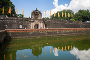 The facade of Fort Santiago in front of the Pasig River in Intramuros, Metro Manila, Philippines. This is one of the most important sites in Manila, as it holds memorabilia of prisoners who died during the Spanish Colonial Period and World War II, especially Jose Rizal. (photo by Andrew Aitchison / In pictures via Getty Images)