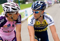 Mitja Mahoric  (SLO) of Radenska KD Financial point and  Borut Bozic at Slovenian National Championships in Road cycling, 178 km, on June 28 2009, in Mirna Pec, Slovenia. (Photo by Vid Ponikvar / Sportida)