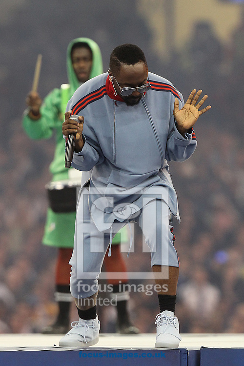 Will I Am and the Black Eyed Peas perform at the opening ceremony before the UEFA Champions League Final at the Principality Stadium, Cardiff<br /> Picture by Paul Chesterton/Focus Images Ltd +44 7904 640267<br /> 03/06/2017