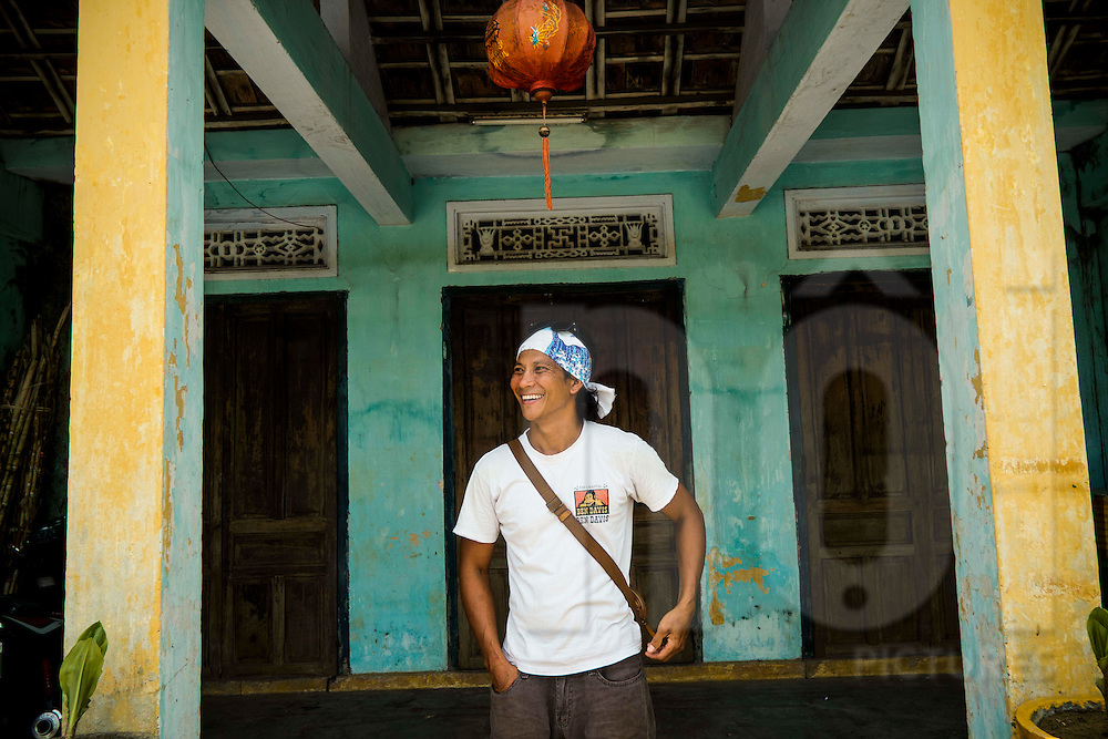 Portrait of Duc Tran, chef/owner of Mango Rooms and Mango Mango restaurants in Hoi An, Vietnam, Southeast Asia