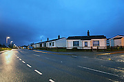 "Post-war prefabricated houses in Plasterfield, Stornoway, Isle of Lewis, Scotland. About 50 of them were built in 1947 as a response to the post-war housing shortage on Lewis. They were called the ""Isle of Lewis type""."