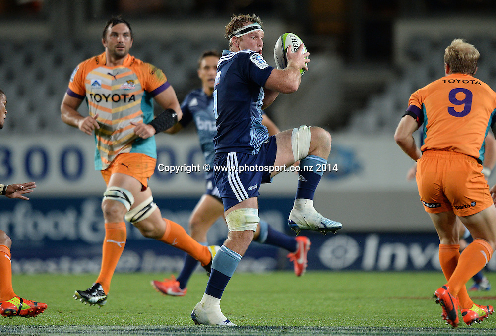 Luke Braid. Blues v Cheetahs. Investec Super Rugby Season. Eden Park, Auckland, New Zealand. Saturday 22 March 2014. Photo: Andrew Cornaga/Photosport.co.nz
