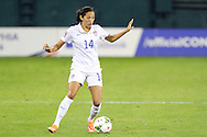 20 October 2014: Christen Press (USA). The United States Women's National Team played the Haiti Women's National Team at RFK Memorial Stadium in Washington, DC in a 2014 CONCACAF Women's Championship Group A game, which serves as a qualifying tournament for the 2015 FIFA Women's World Cup in Canada. The U.S. won the game 6-0.