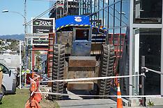 Auckland-Two injured as crane platform topples, Grey Lynn