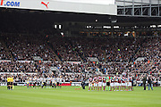 A MINUTES SILENCE.NEWCASTLE UNITED V WEST HAM.NEWCASTLE UNITED V WEST HAM UNITED, BARCLAYS PREMIER LEAGUE.ST.JAMES PARK, NEWCASTLE, ENGLAND.11 November 2012.GAP62045..  .WARNING! This Photograph May Only Be Used For Newspaper And/Or Magazine Editorial Purposes..May Not Be Used For Publications Involving 1 player, 1 Club Or 1 Competition .Without Written Authorisation From Football DataCo Ltd..For Any Queries, Please Contact Football DataCo Ltd on +44 (0) 207 864 9121