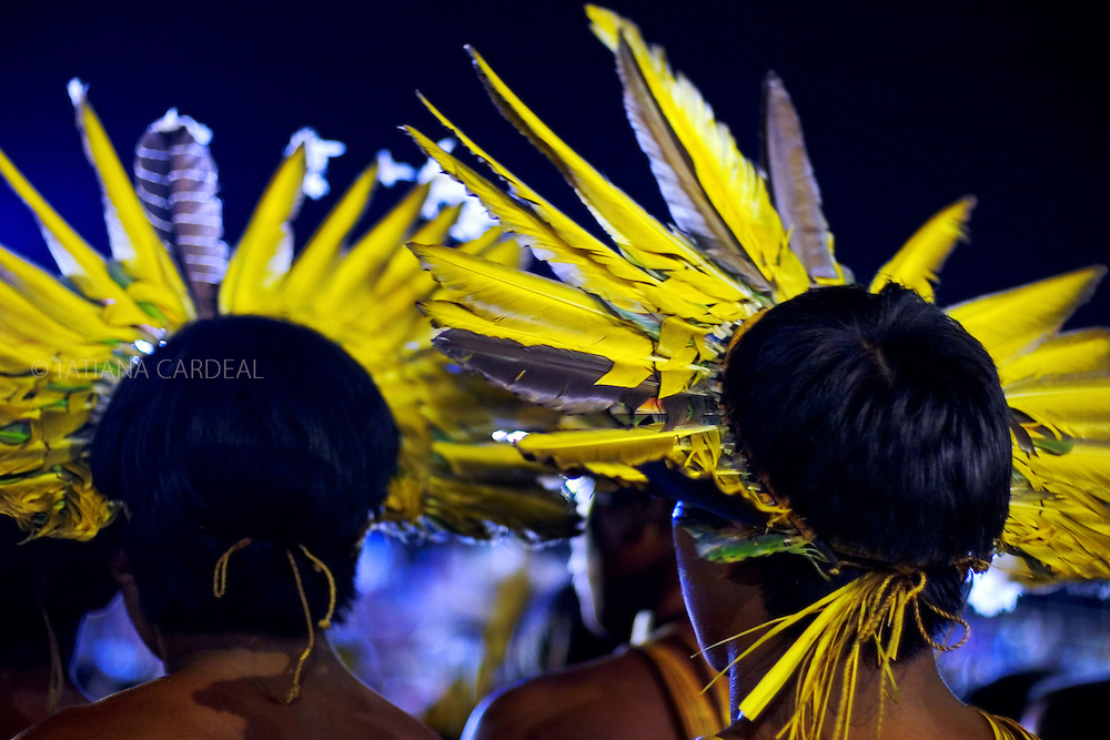 Bororo People during the Indigenous Festival.