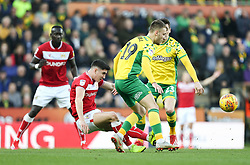 Callum O'Dowda of Bristol City battles for possession - Mandatory by-line: Arron Gent/JMP - 23/02/2019 - FOOTBALL - Carrow Road - Norwich, England - Norwich City v Bristol City - Sky Bet Championship