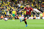 Diego Rico (21) of AFC Bournemouth crosses the ball during the Premier League match between Bournemouth and Norwich City at the Vitality Stadium, Bournemouth, England on 19 October 2019.