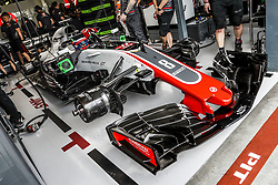 March 24, 2018 - Melbourne, Victoria, Australia - GROSJEAN Romain (fra), Haas F1 Team VF-18 Ferrari, garage box during 2018 Formula 1 championship at Melbourne, Australian Grand Prix, from March 22 To 25 - s: FIA Formula One World Championship 2018, Melbourne, Victoria : Motorsports: Formula 1 2018 Rolex  Australian Grand Prix, (Credit Image: © Hoch Zwei via ZUMA Wire)