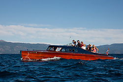 """Wooden Boat on Lake Tahoe 4"" - This classic wooden boat was photographed on Lake Tahoe during the 2011 Concours d' Elegance."