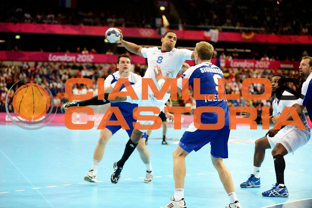 DESCRIZIONE : France Handball Jeux Olympiques Londres GIOCATORE : Narcisse Daniel FRA SQUADRA : France Homme DATA : 2012-08-06CATEGORIA : SPORT : HandBall AUTORE : AGENZIA CIAMILLO & CASTORIA/G.Ciamillo