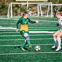 5th year Forward, Brianna Wright (7) of the Regina Cougars during the Women's Soccer home game on Sun Oct 14 at U of R Field. Credit: Arthur Ward/Arthur Images