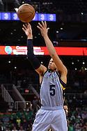 Mar 21, 2016; Phoenix, AZ, USA; Memphis Grizzlies guard Ray McCallum (5) shoots the ball against the Phoenix Suns in the second half at Talking Stick Resort Arena. The Memphis Grizzlies won 103-97. Mandatory Credit: Jennifer Stewart-USA TODAY Sports
