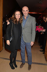 LUCY YEOMANS and MARC QUINN at a private view of photographs by David Bailey entitled 'Bailey's Stardust' at the National Portrait Gallery, St.Martin's Place, London on 3rd February 2014.